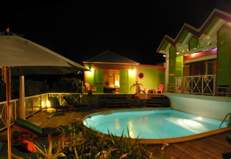 île de St. Martin  chambre d'hôte  baie orientale